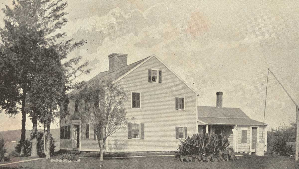 Early photo of the Oliver Watson House