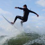 Surfer mid-air