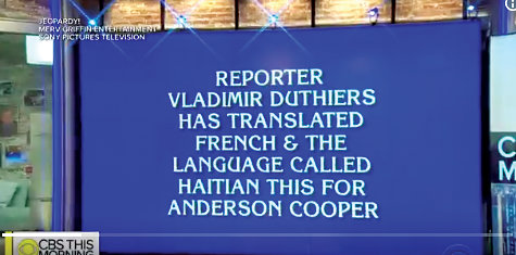 Vladimir Duthier, mentioned on a Jeopardy clue