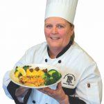 A URI Chef presents a healthy dish