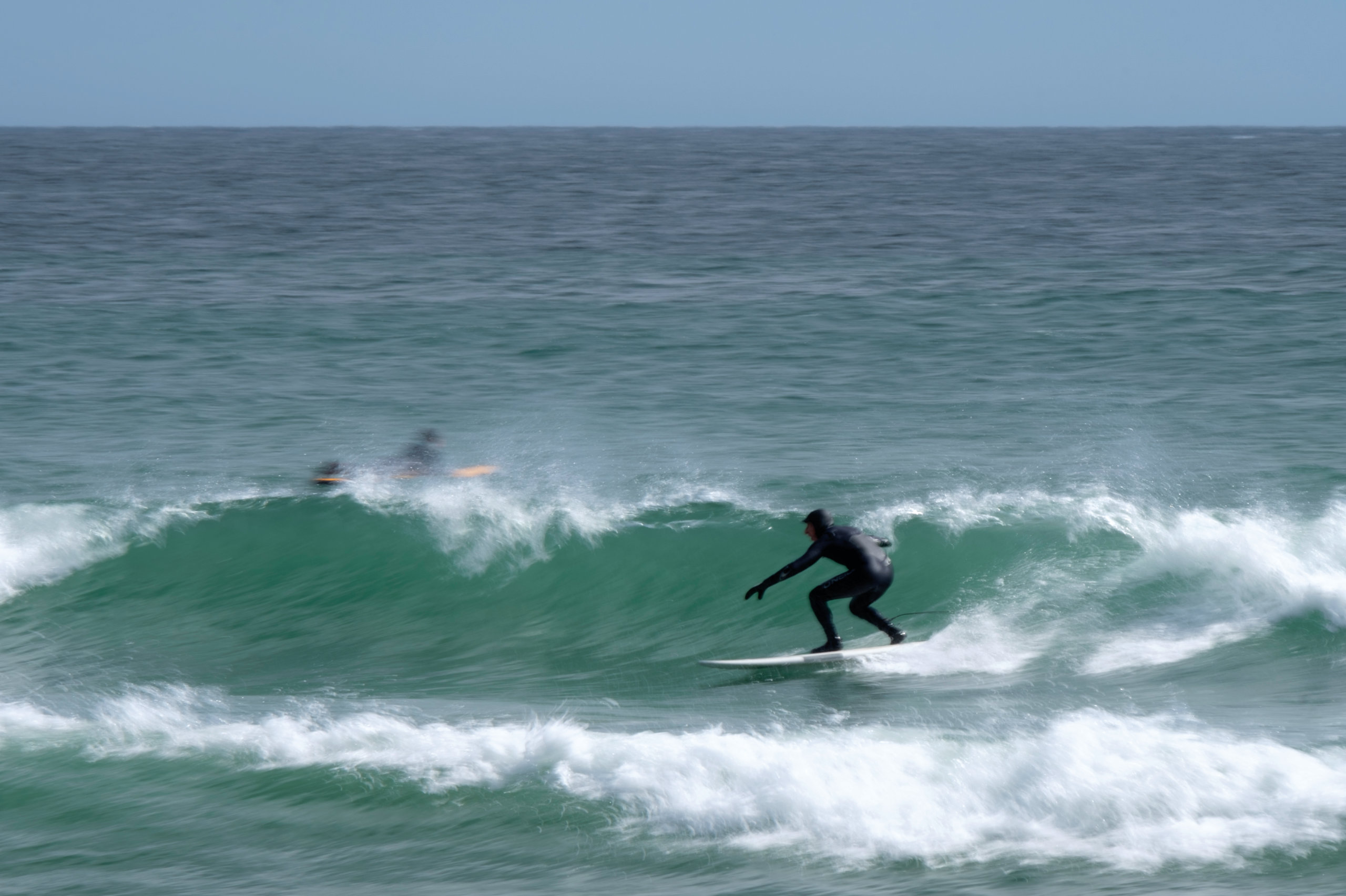 Peter Panagiotis (a.k.a. Peter Pan) catches a perfect ride at one of his favorite spots in Narragansett, Rhode Island.