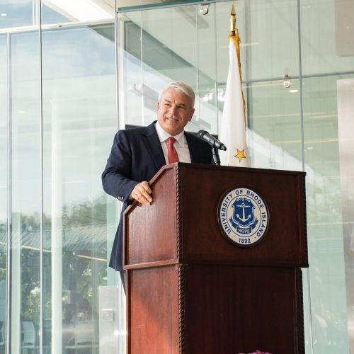 Michael D. Fascitelli giving speech