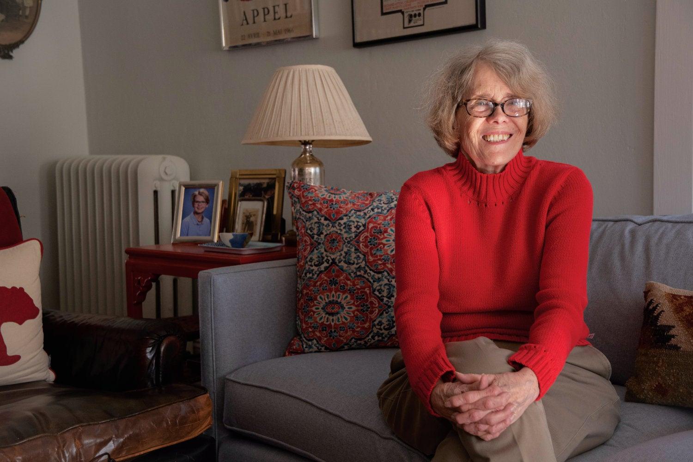 Professor Emerita Linda Levin in her Providence home.