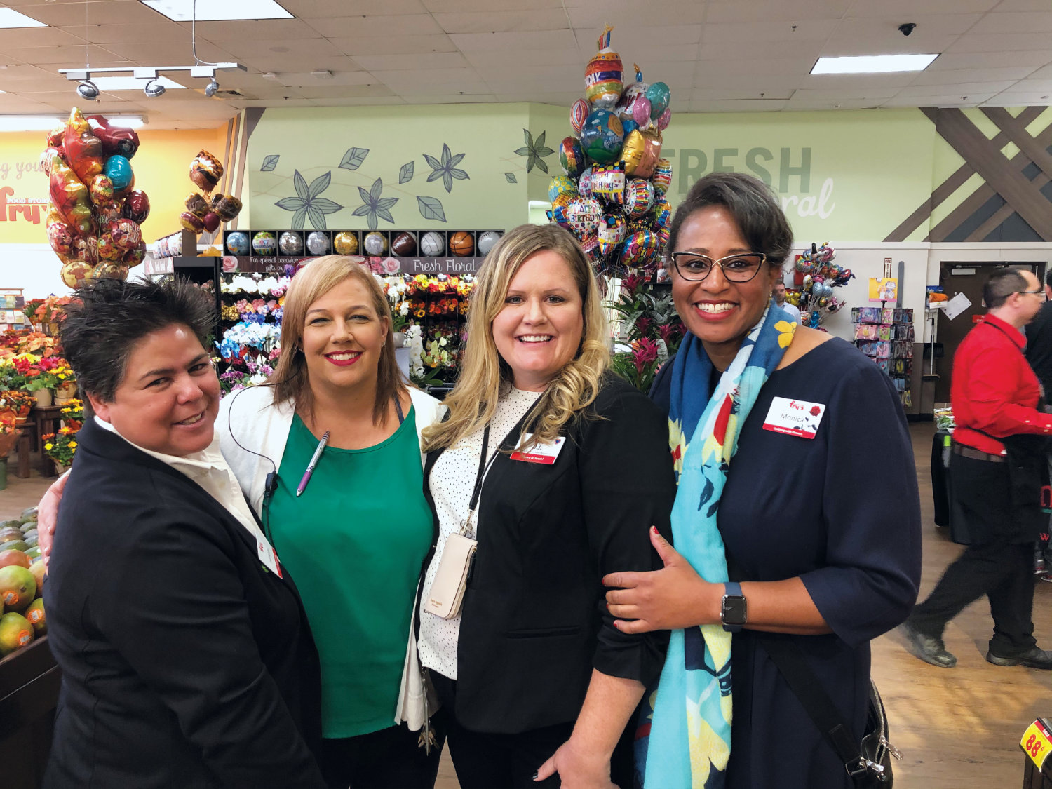 Monica Garnes with her colleagues at Frys Foods