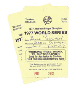 Tickets from the 1977 World Series