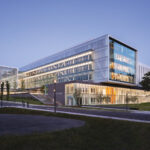 A picture of the New Fascitelli Center for Advanced Engineering on the URI campus