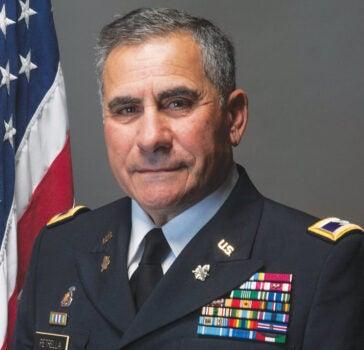 Col. John Petrella '68, president of URI's Army ROTC Alumni Chapter