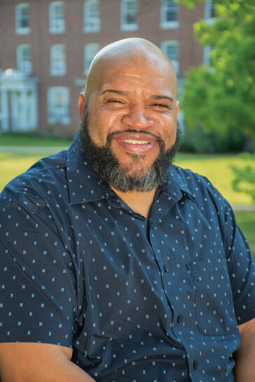 URI alumnus Matt Buchanan '98 who now serves as a high school principal