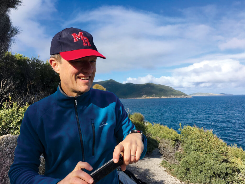 URI president Marc Parlange outdoors at Wilsons Promontory National Park in Victoria, Australia.