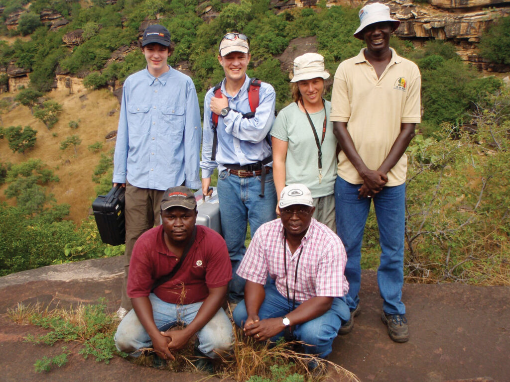 URI President Marc Parlange with members of his of his echohydrology research team in Burkina Faso