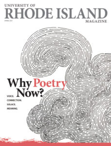 """The Spring Cover of the URI magazine with the story """"Why Poetry Now""""?"""