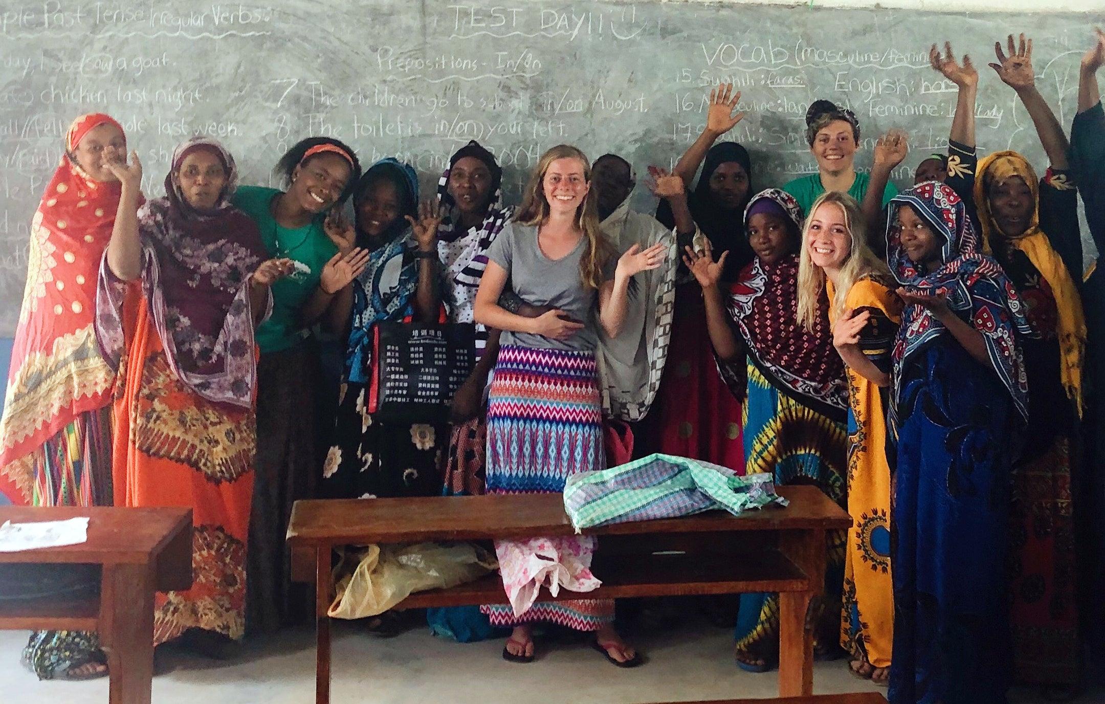 Halah Davis in Tanzania