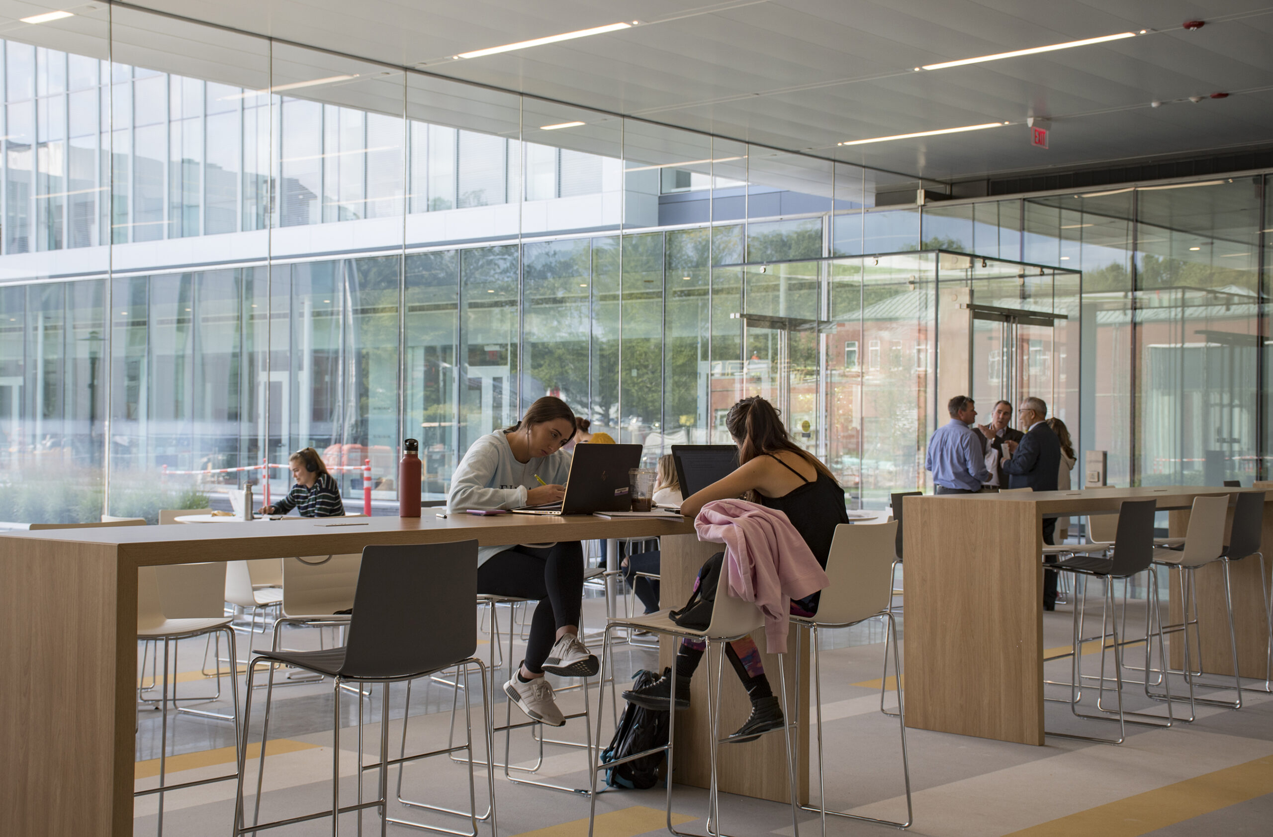 Students study in the new Fascitelli Center for Advanced Engineering.