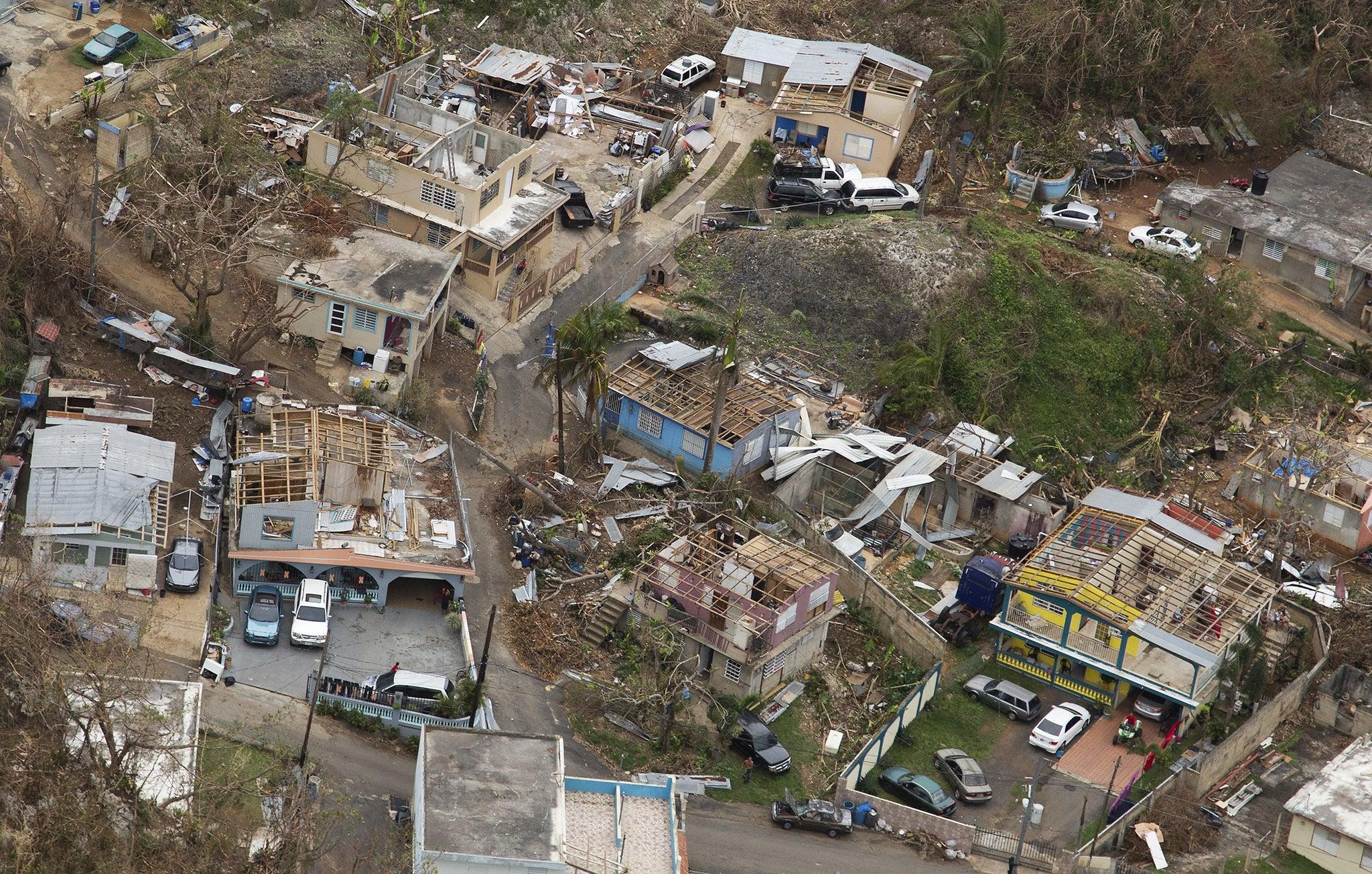 PR after Hurricane Maria: Puerto Rico after Hurricane Maria. Photo by Yuisa Rios/FEMA
