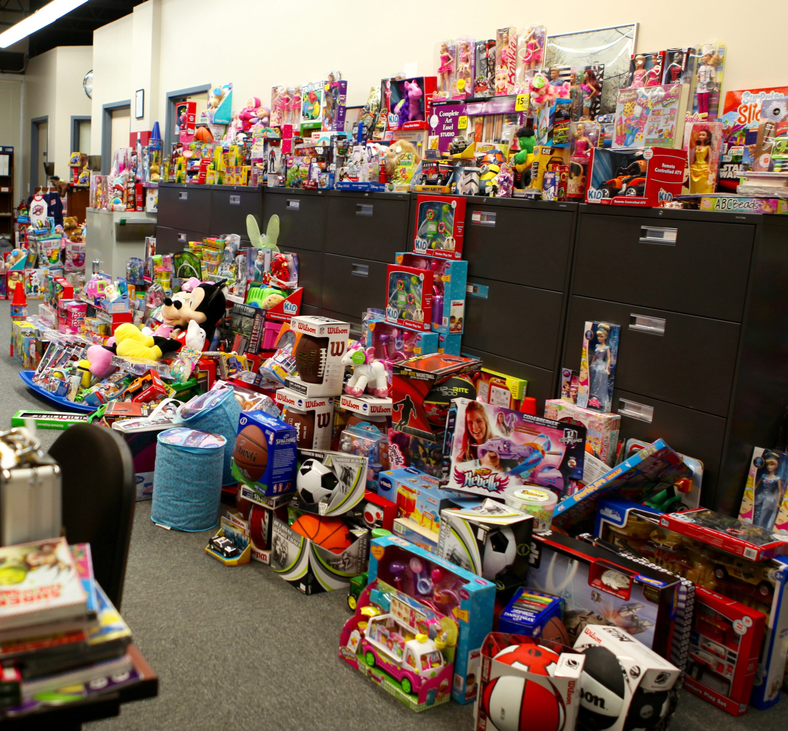 URI Police Station was filled to the brim with toys