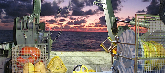 An image taken from a ship engaged in the NASA-led EXPORTS expedition in the North Pacific. (NASA EXPORTS project)