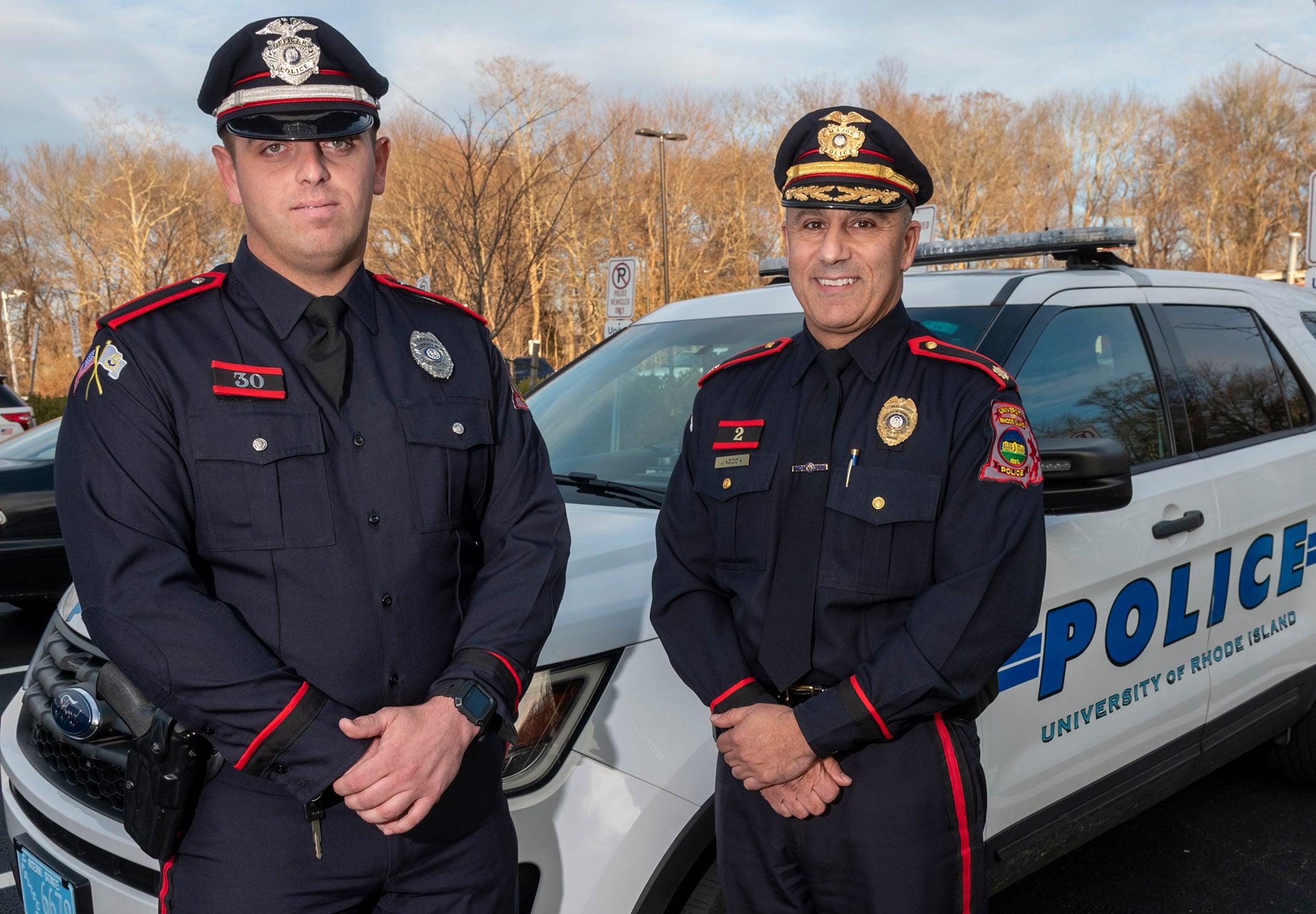 Officer Michael Intrieri (left),and Maj. Michael Jagoda (right)
