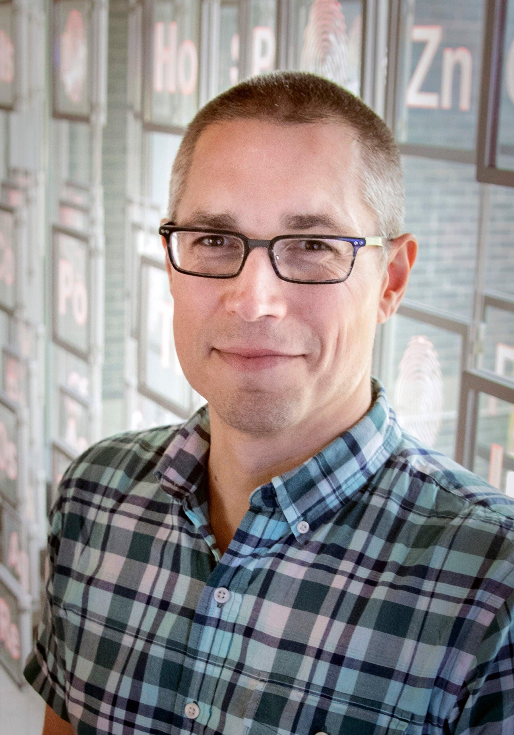 Associate Professor of Chemistry Jason Dwyer
