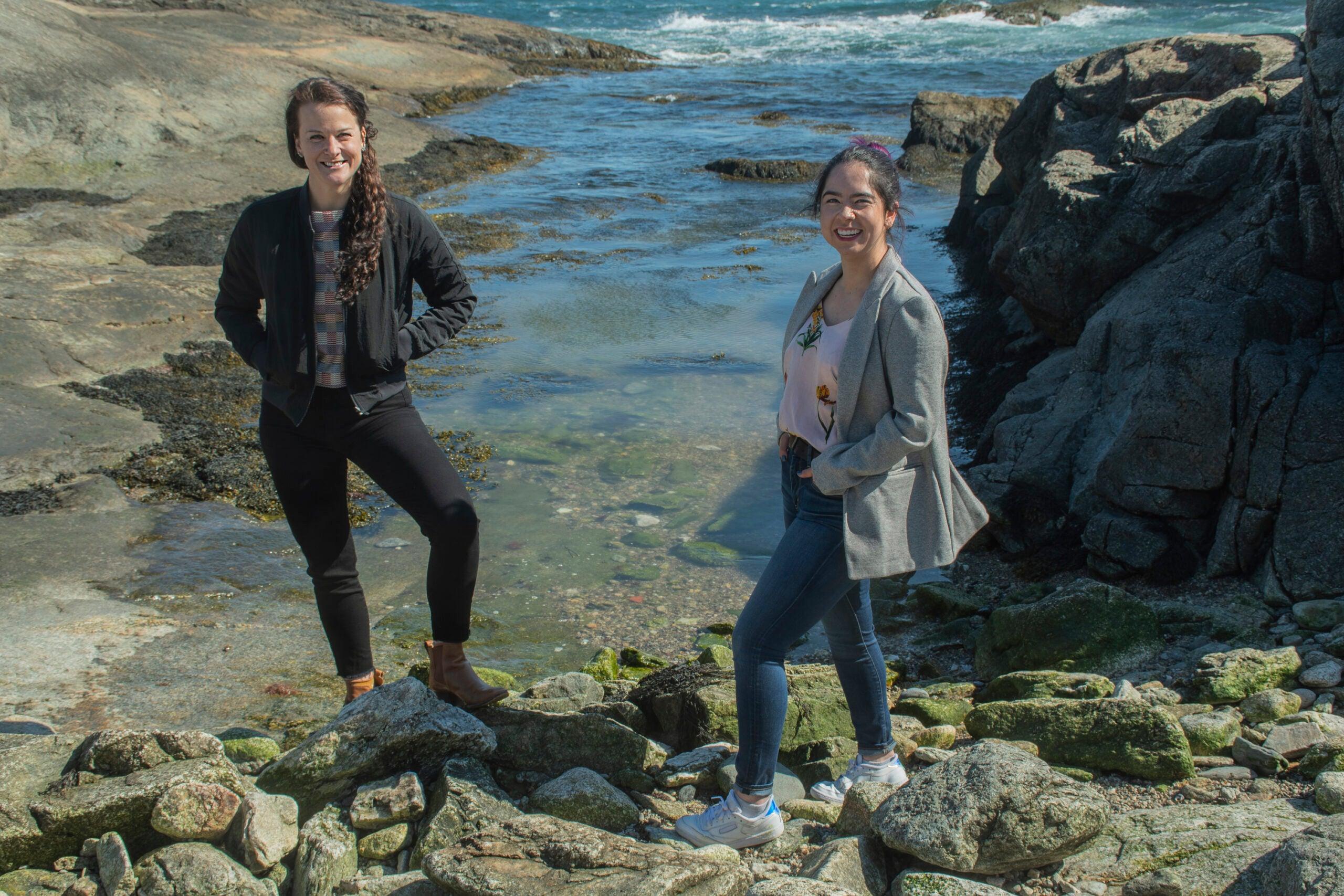 Beth Mendenhall, left and Eliya Baron Lopez. Photo by Nora Lewis