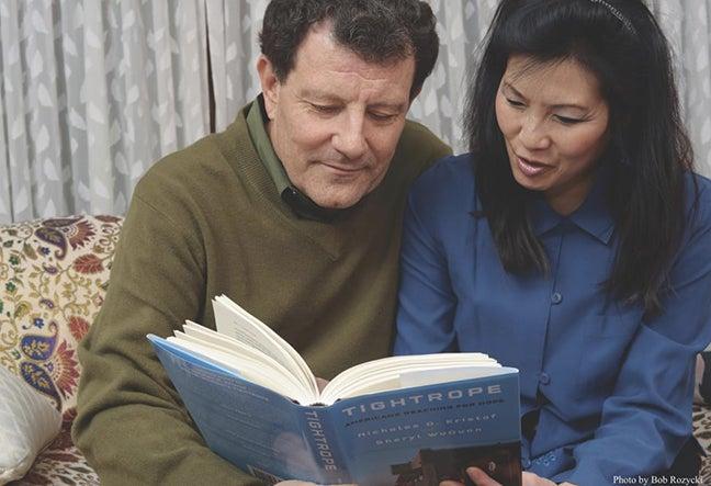 Nicholas Kristof and Sheryl WuDunn.