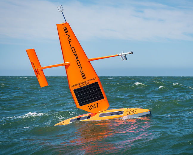 A Saildrone sailing in rough seas. (Photo: Saildrone)