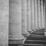 A row of columns to represent the classical foundation of philosophy.