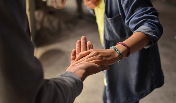 helping hands reaching out