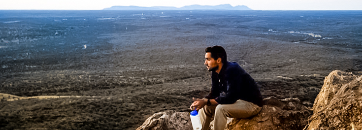 Peace Corps volunteer on Pride Mountain in Namibia