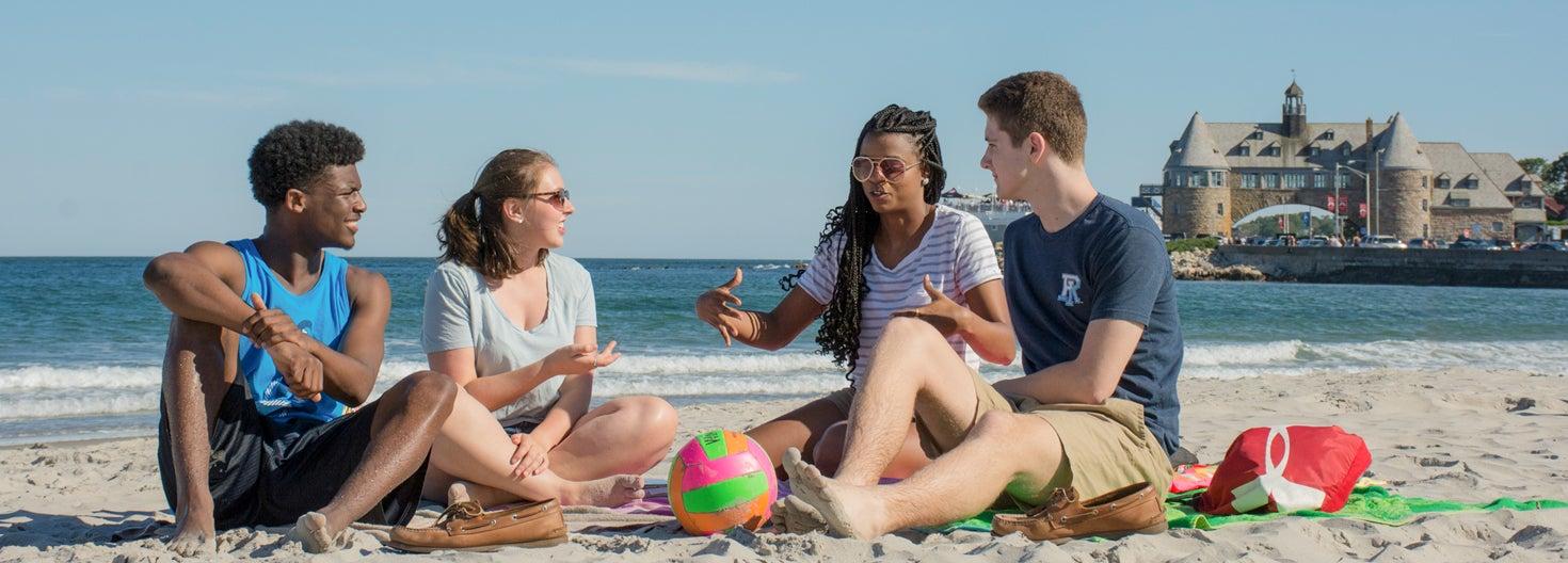 Students at Narragansett Beach