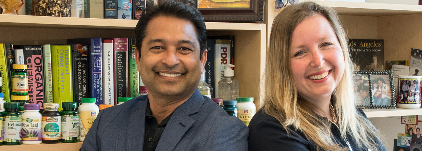 Navindra Seeram and Angela Slitt