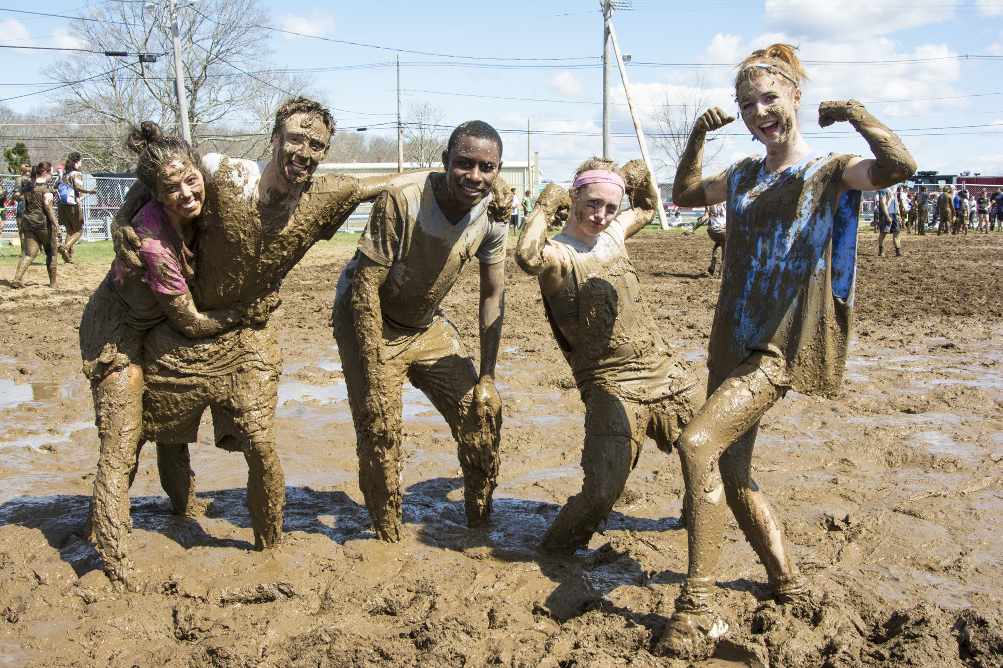 mud-caked oozeball players