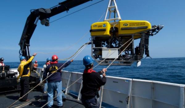 Launching the Hercules submarine