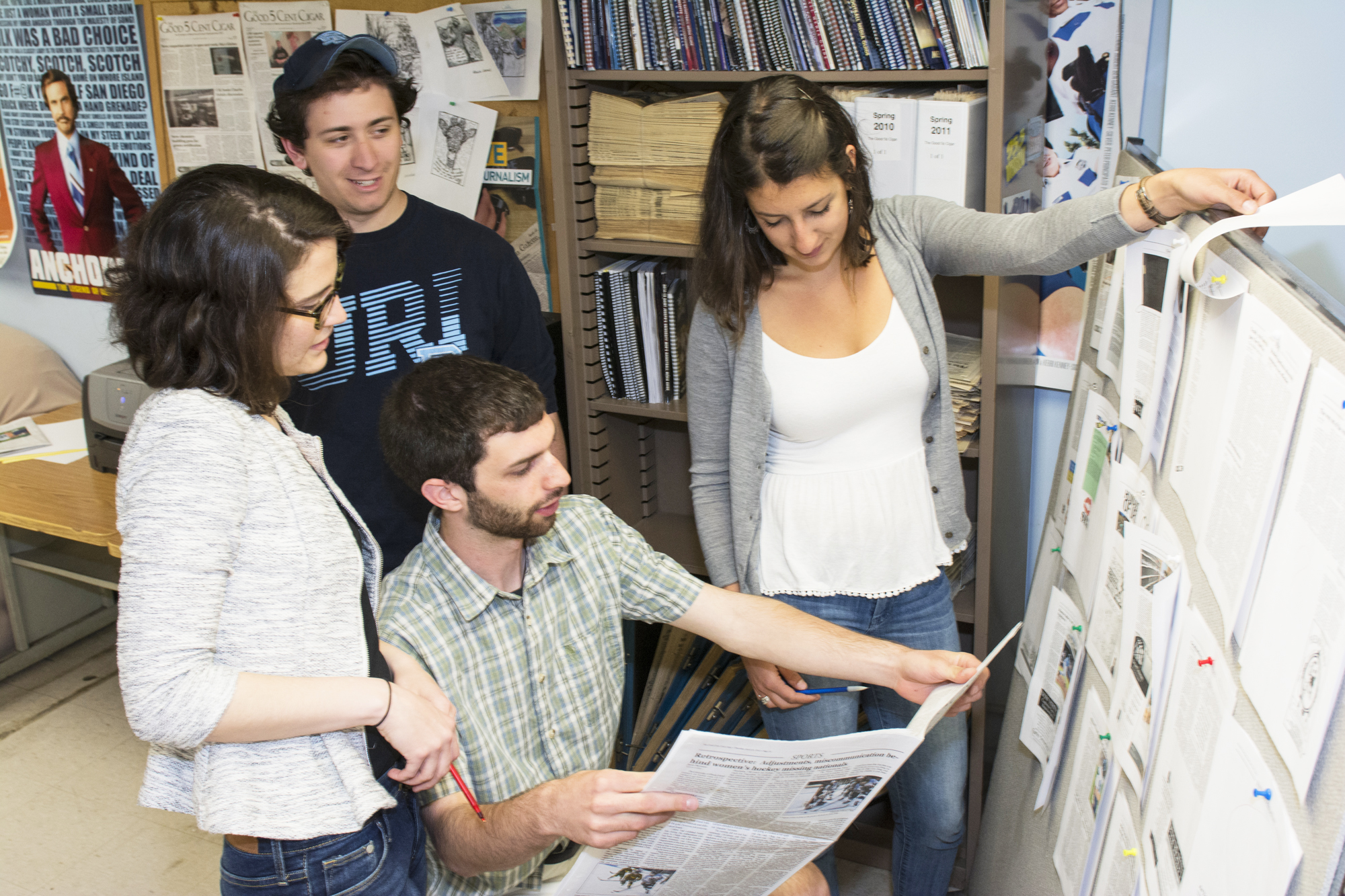 Students in the editing room