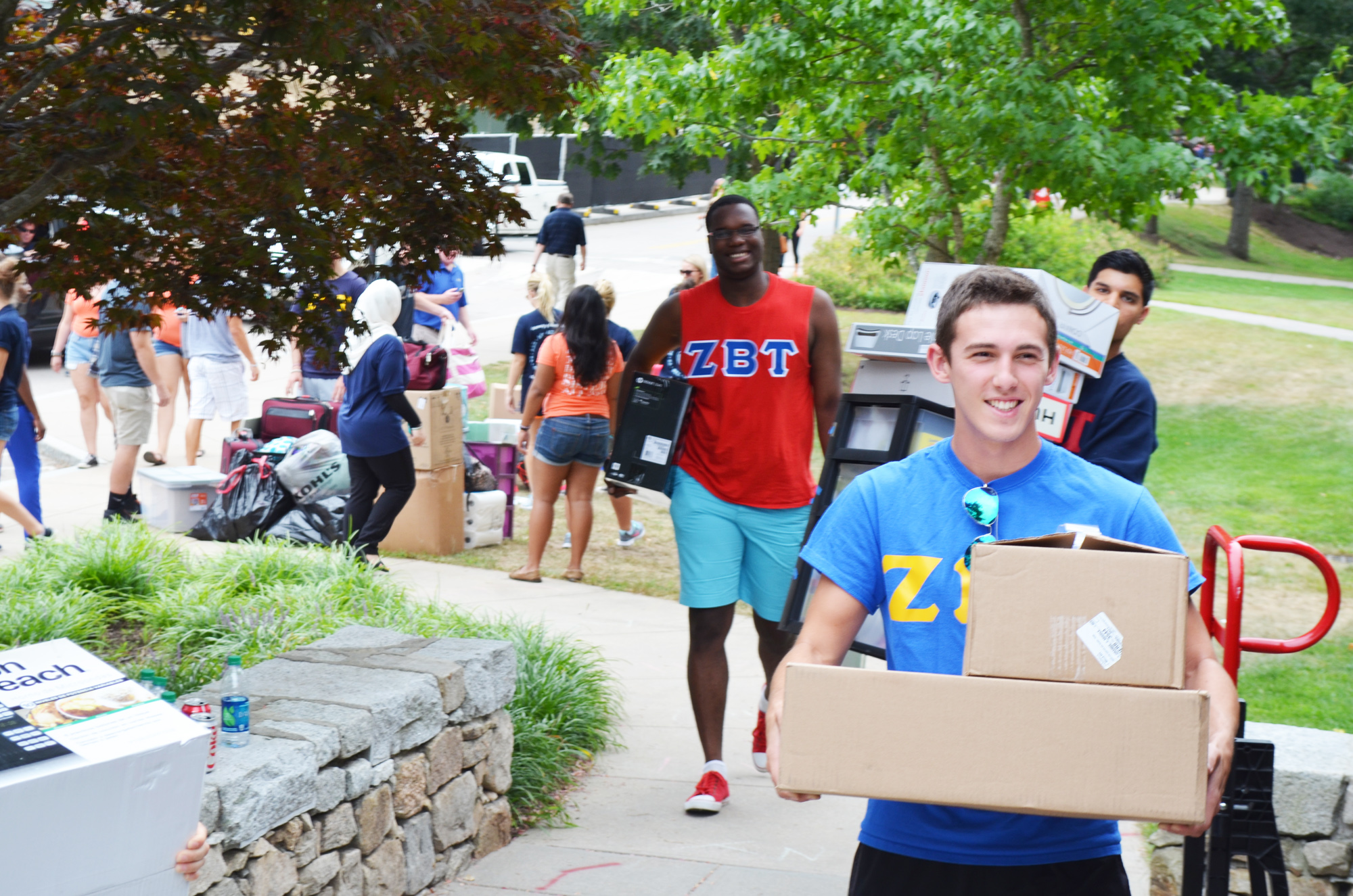 Scene from move-in day