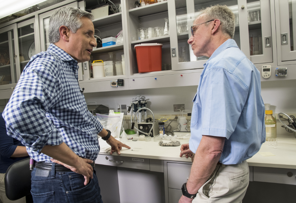 Tom Mather interviewed in his lab by Dr. John Torres