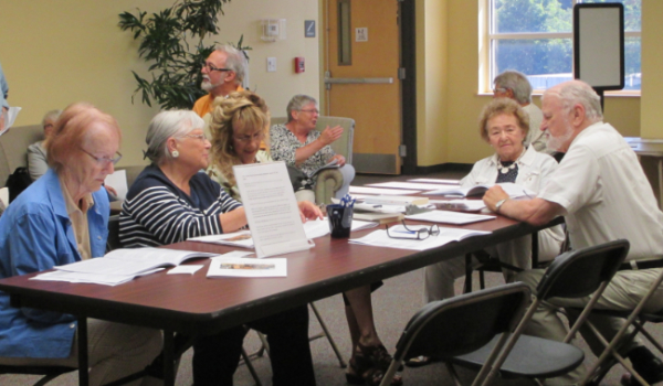 A group of Osher Lifelong Learning Institute attending a class