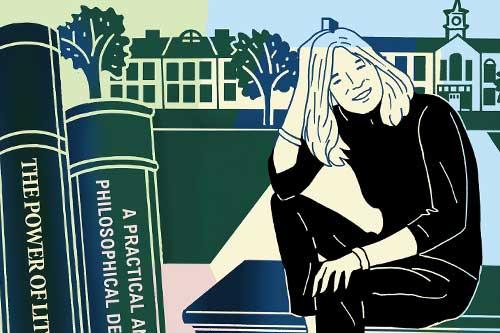 Illustration of writer and alumna Ann Hood
