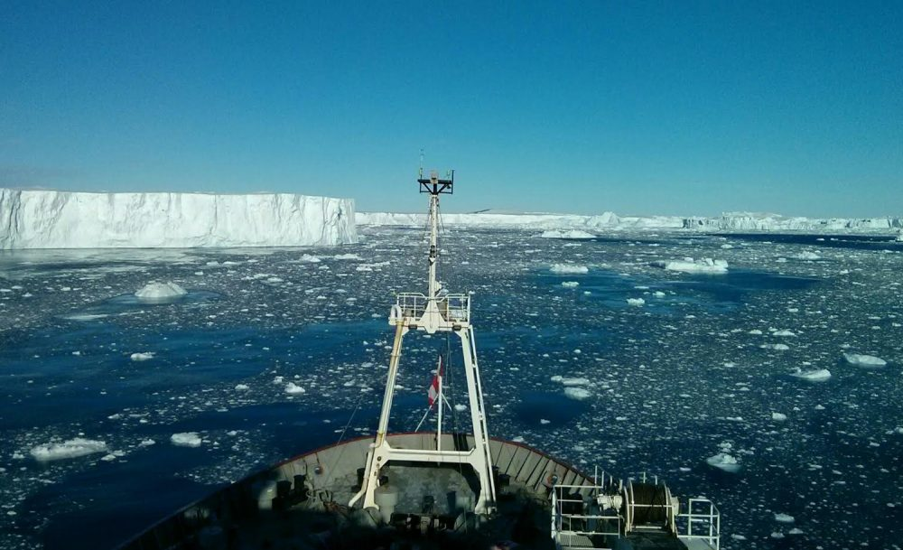 From the RSS James Clark Ross at the Pine Island Glacier in Antarctica