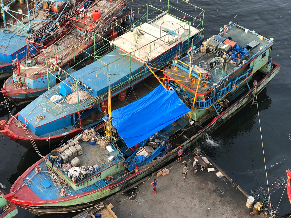 Ships in the Jakarta Indonesia Fishing Port