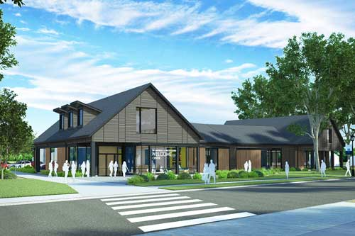 rendering of URI Welcome Center