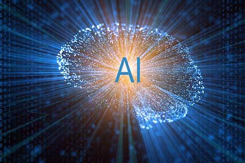 Artificial Intelligence starburst image