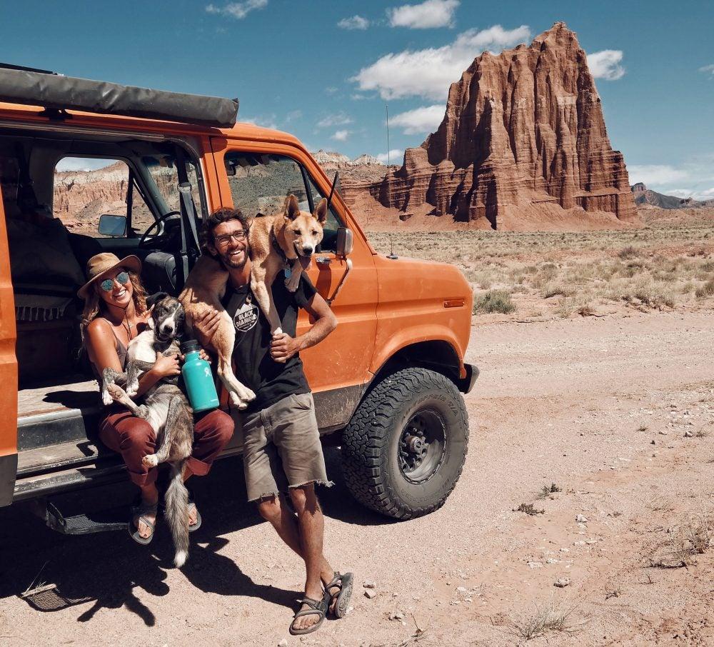 Brianna Madia living in the desert
