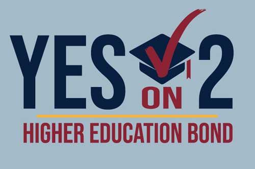 Yes on 2 logo for RI Higher Education Bond