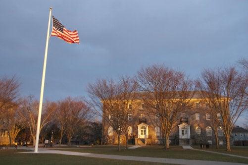 URI Quad with flag flying