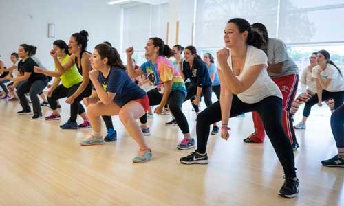 exercise class at the Fascitelli Fitness Center