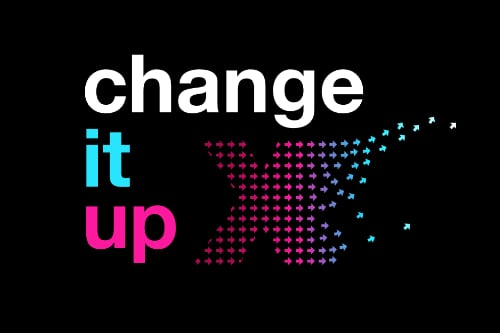 Change it up poster for TEDxURI 2019