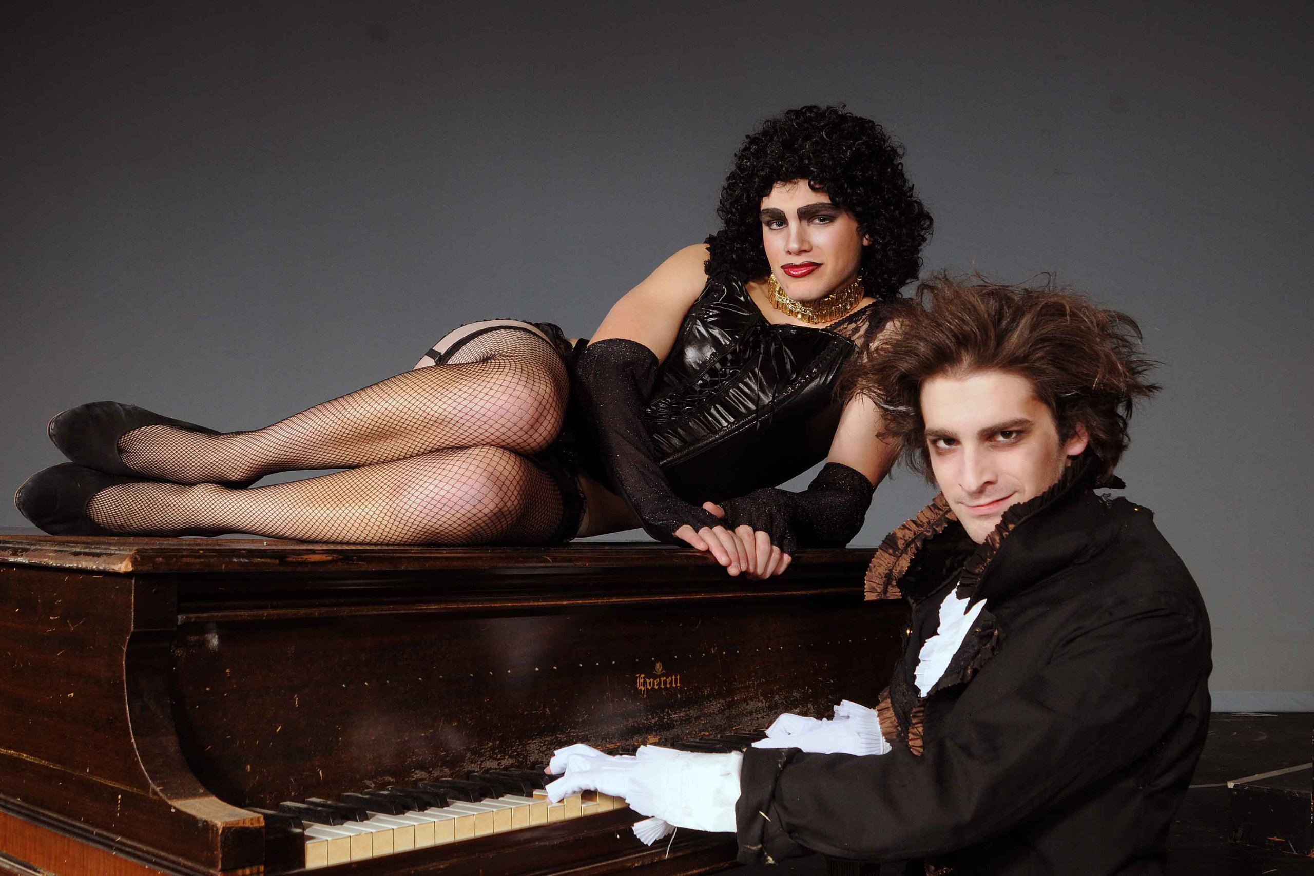 Andrew Burnap poses for a Rocky Horror Picture Show promo