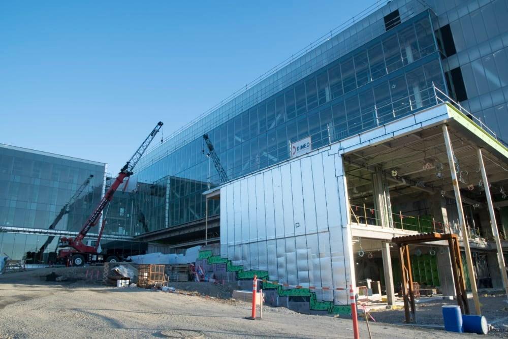 Exterior construction of engineering complex