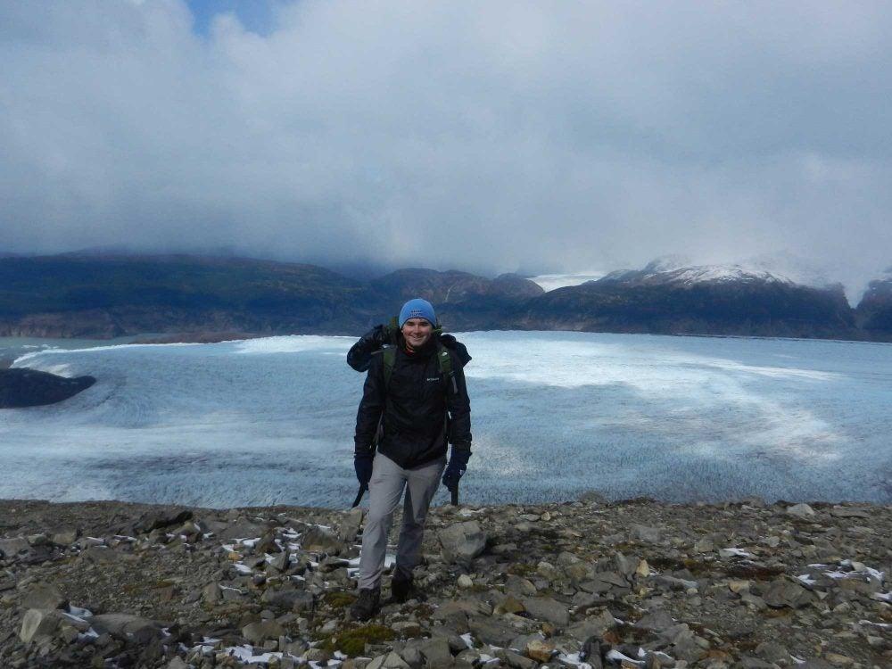 Mike Logar at Glacier Grey in Chile