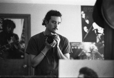 Matt Meigs selfie in an art studio